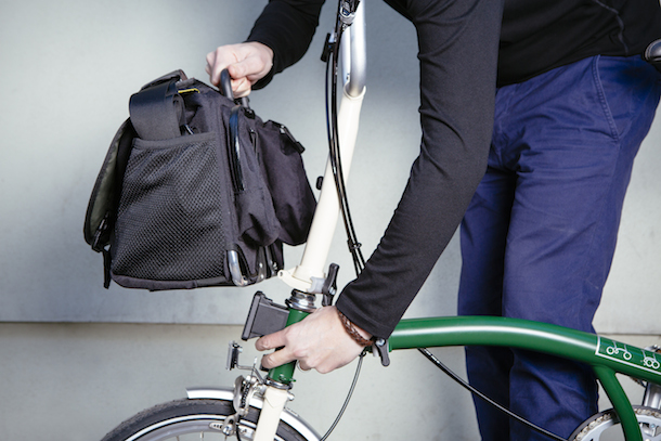 Brompton smallest folding bike luggage system
